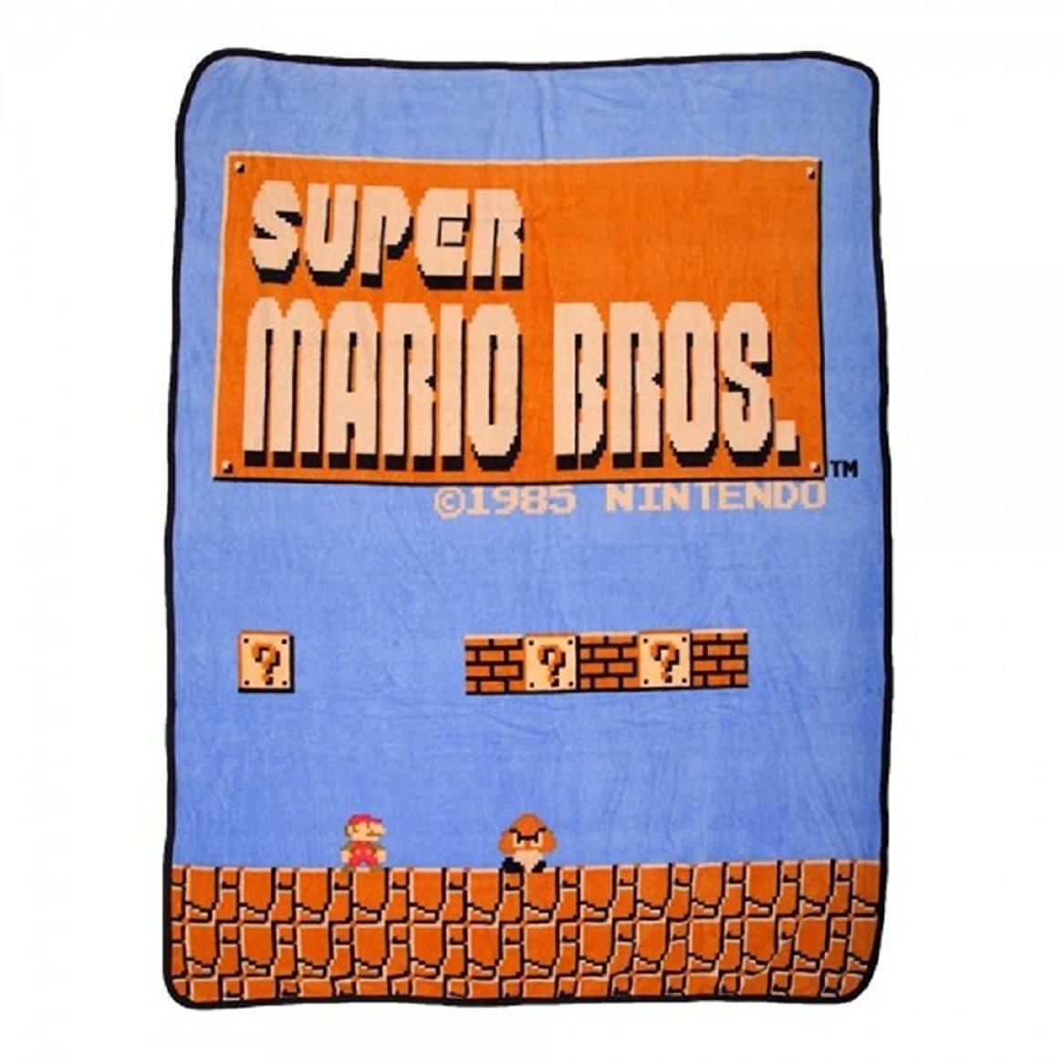 da4cf6233b Get Quotations · BIOWORLD Nintendo Super Mario Bros Retro Fleece Throw  Blanket