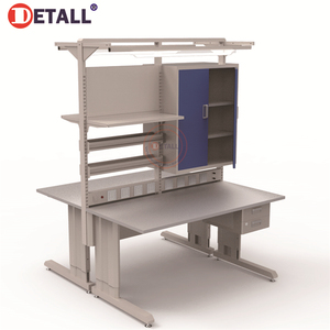 Detall-stainless steel corner work table metal work table movable workbench