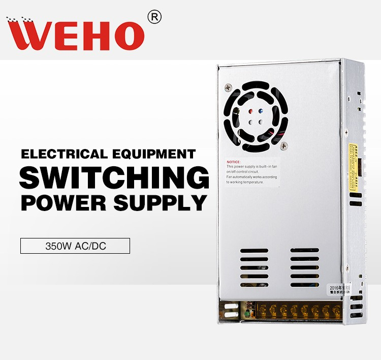 WEHO S-350-24 CE Rohs approved 350W 24V switching power supply ac to dc constant voltage