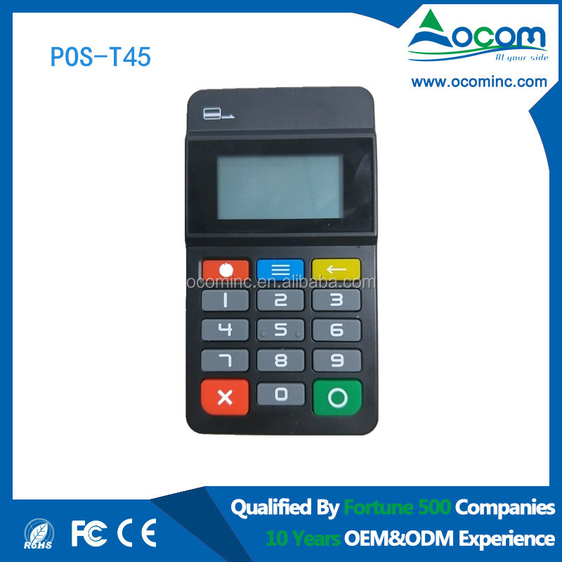 EMV PCI wireless smart card reader for pos payment solution