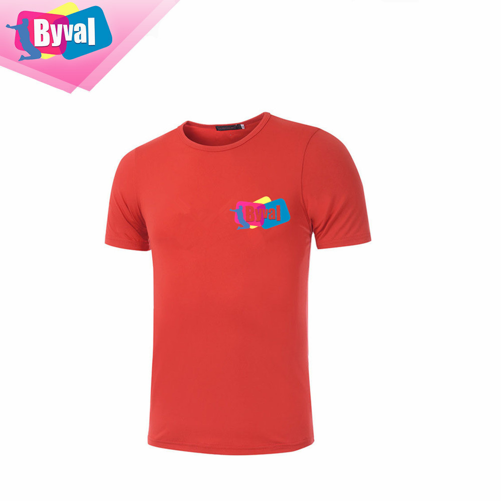 bulk wholesale clothing custom t shirt printing seamless 100%polyester dry fit t shirt marathon sports jogging OEM garment