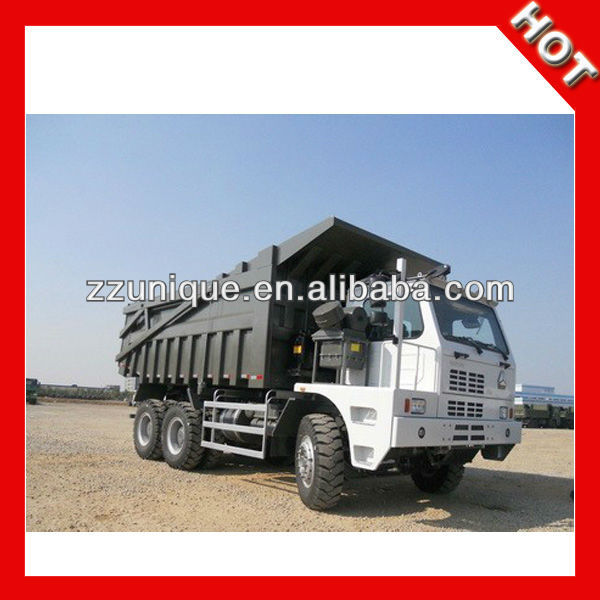 50T 6x4 371HP Mine use truck with front tipping type