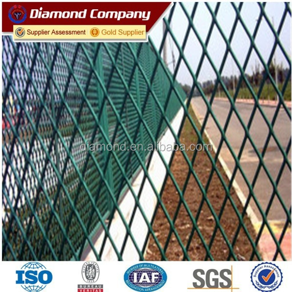2015 hot sell Powder Coated Expanded Metal Mesh /Aluminum expanded mesh sheet