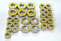 High Performance KYOSHO F1 IMPRESS steel bearing kits with different rubber seal color