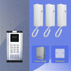 audio intercom system with unlock function for high building