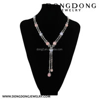 Professional made OEM quality costume chain beaded necklace jewelry