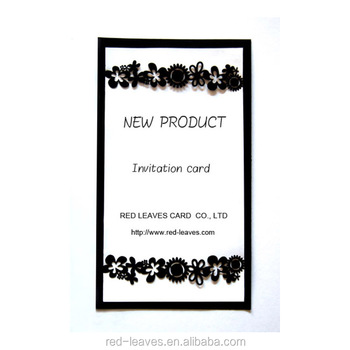 Black Color Flower Design Business Greeting Card 3d Craft Birthday