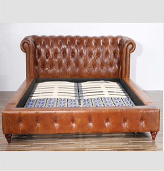 Antique Chesterfield Leather Sofa Bed