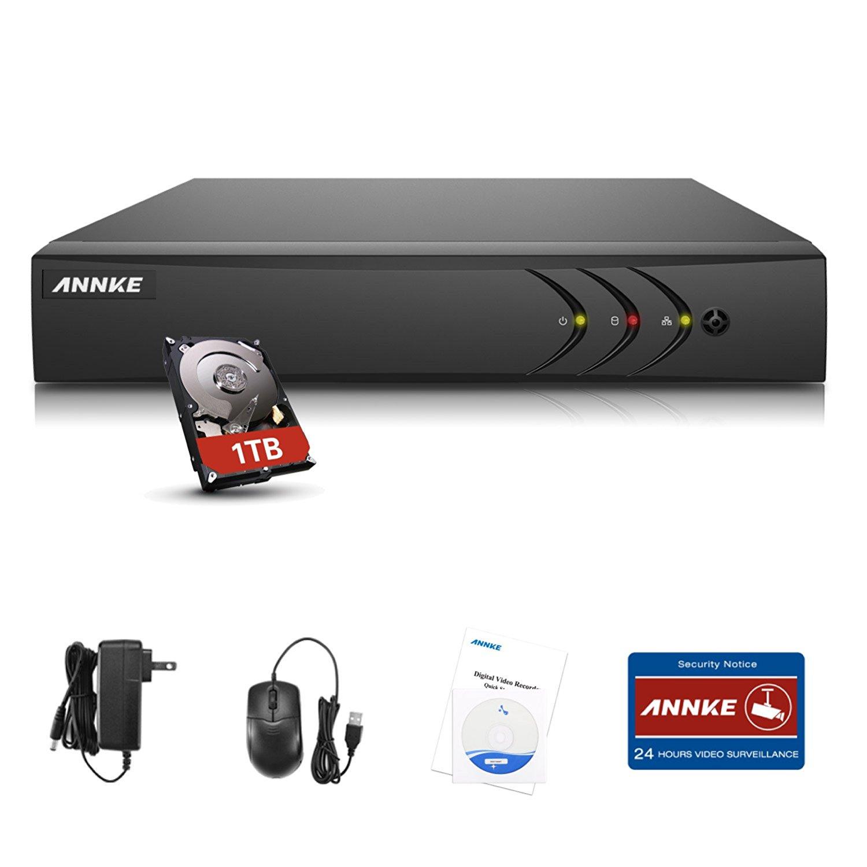 ANNKE 4CH 1080N Hybrid 5-in-1 AHD DVR (1080P NVR+1080N AHD+960H Analog+TVI+CVI) Standalone DVR CCTV Surveillance Security System Video Recorder 1TB HDD,Cameras Not Included