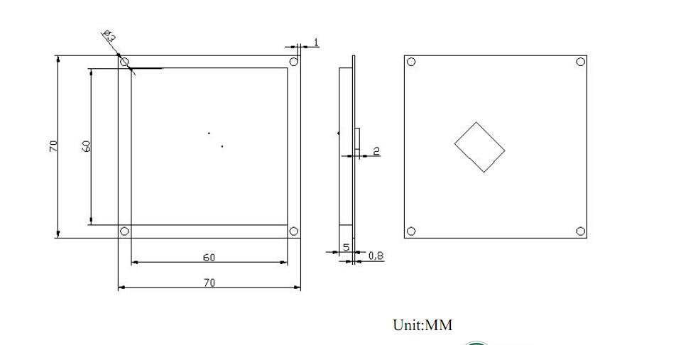 900MHz 4DBI UHF RFID Ceramic Antenna