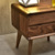 Modern style with drawer small wooden bedside table