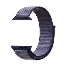 Спортивный тканый нейлоновый ремешок на липучке для apple watch, 44 мм, 40 мм, 38 мм, 42 мм, сменный наручный ремешок iwatch series 5, 4, 3, 2, 1(Китай)