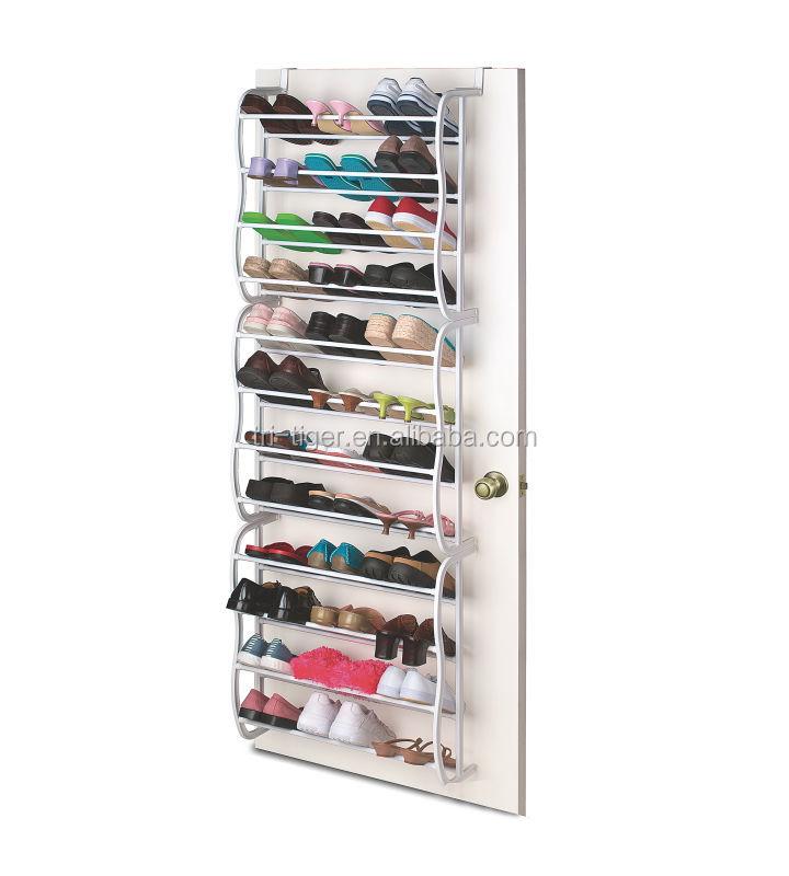 36 pair wall mounted door shoe hanger