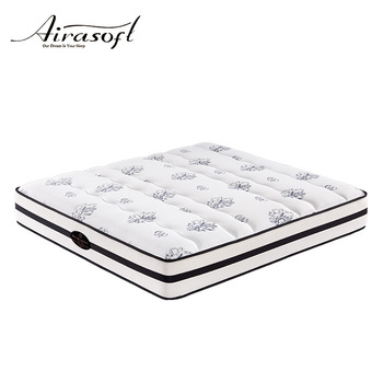 Luxury king size malaysia and memory foam pocket spring bed mattress in a box manufacture