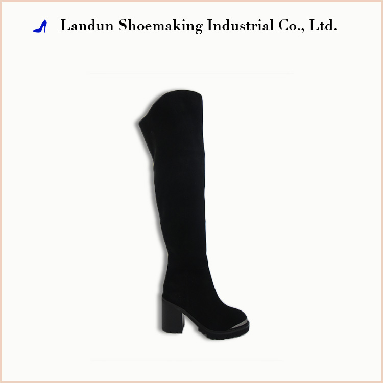 Fashion soft rubber high heel thigh high over knee snow boots women