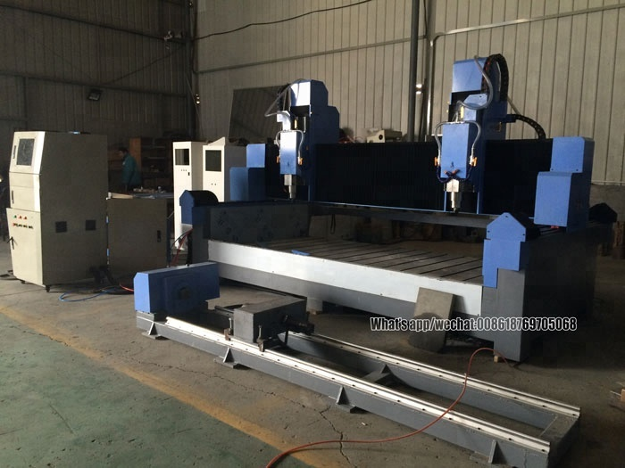 With additional rotary axis 3000*1500mm big size 3d cnc stone sculpture machine