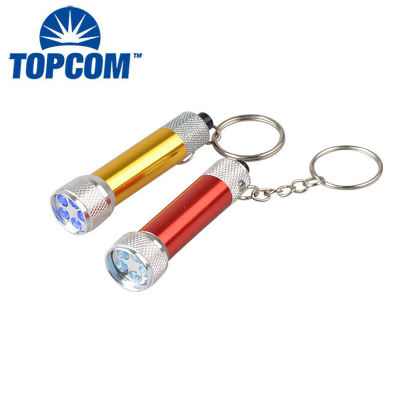 Aluminum Alloy 5 LED Key Chain Mini Flashlight LED Key Ring