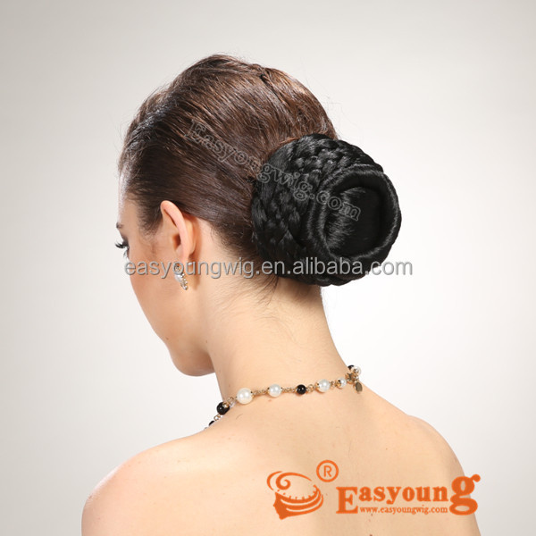 Afro Black Hair Ornament,Synthetic Braids Hair Buns Hairpieces ...