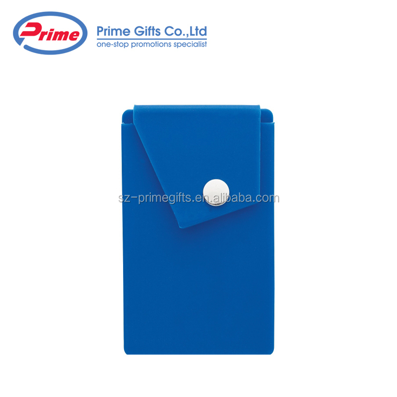 2018 Sell Well Silicone Gift Adhesive Phone Card Holder with Custom Logo