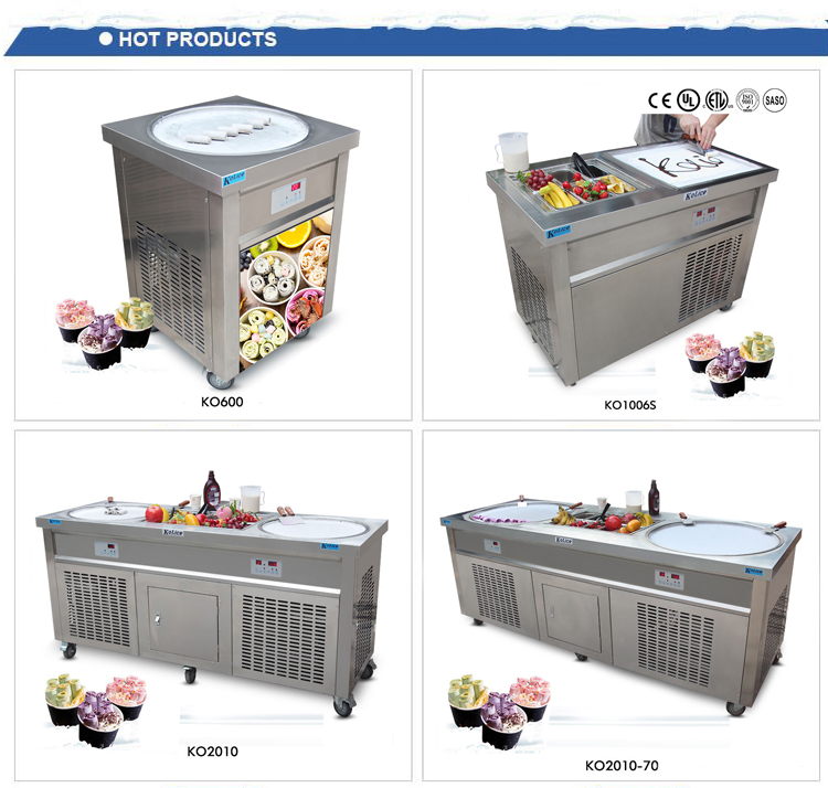 new style nitrogen freeze fried ice cream machine