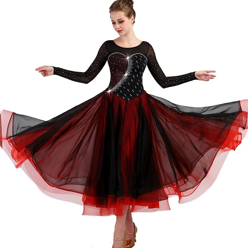 06ee09a33 Señora de la competencia de baile vestidos de las mujeres Tango latín vals  danza moderna trajes estándar de baile de Salsa ropa DL2744