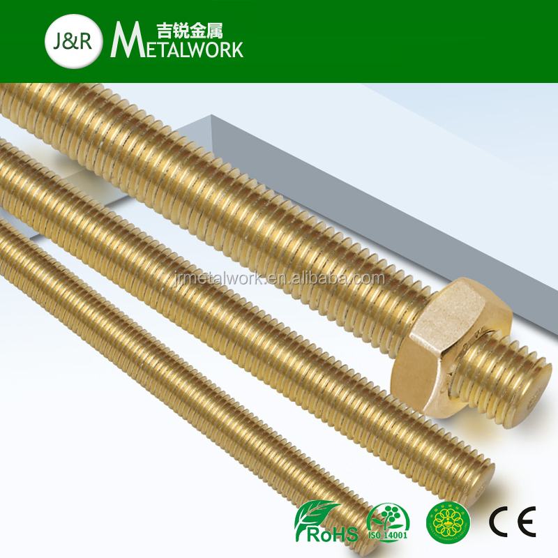 M14 M36 M39 All Full Brass Threaded Rod And Nut DIN975