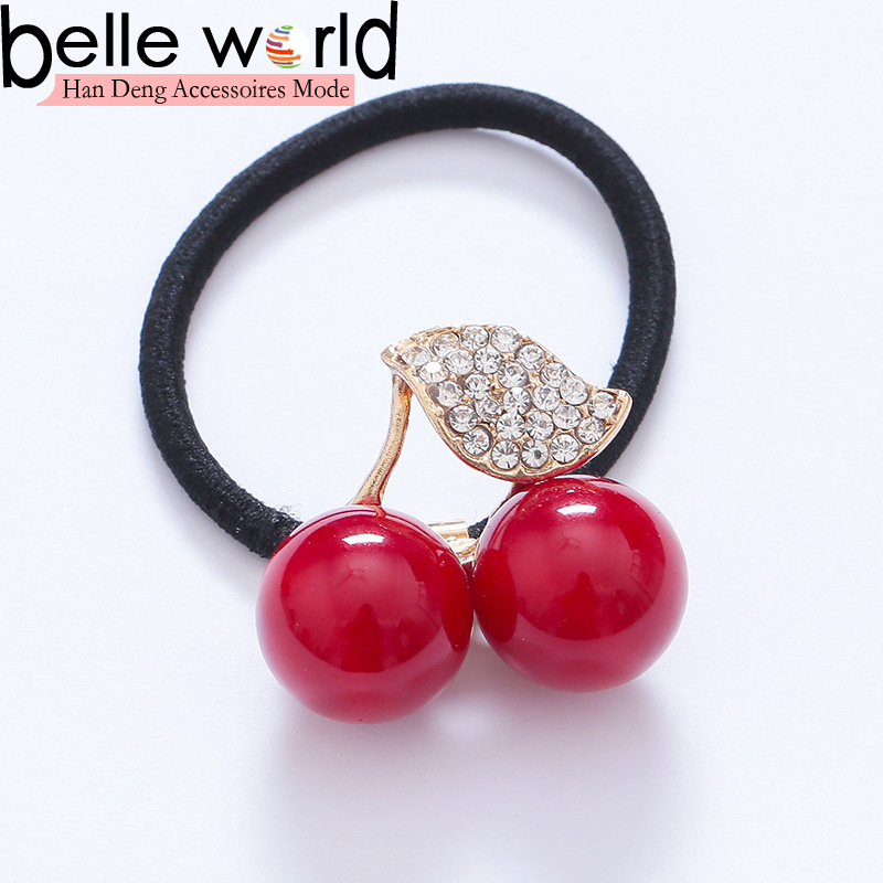 Wholeasle fashion cherry ponytail holder for girls
