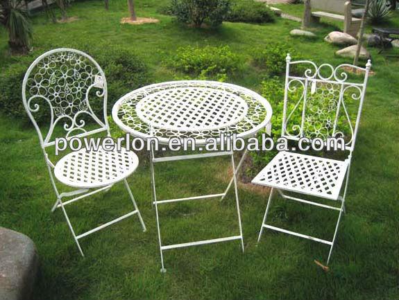 Kd shabby chic bistro set mobili da giardino in ferro - Set da giardino ferro battuto ...