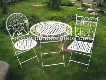 shabby chic patio furniture. delighful furniture kd shabby chic bistro set wrought iron garden furniture antique white and patio
