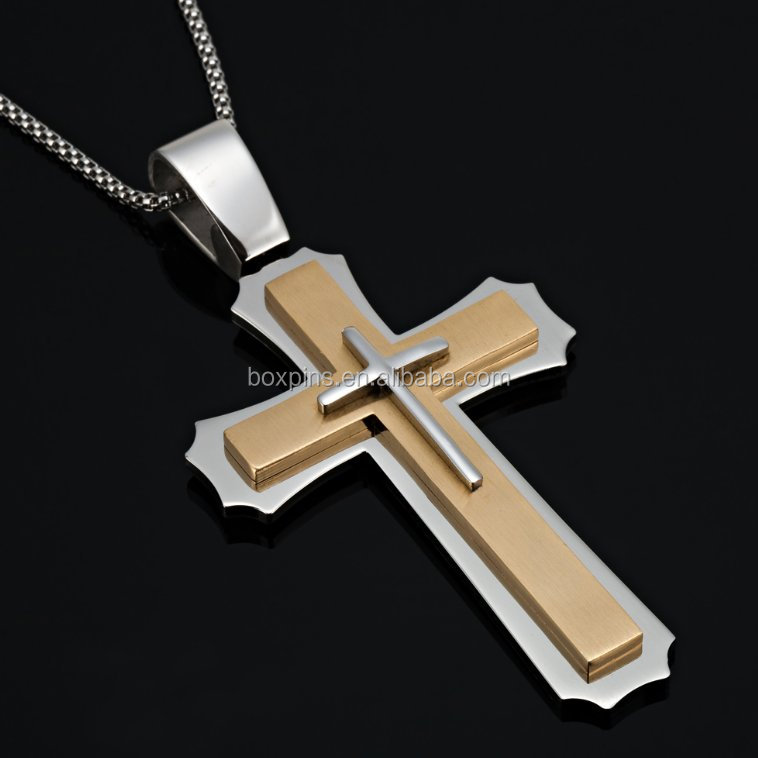 Custom Christian cross metal necklace /pandent