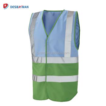 Blanco azul Rosa color personalizado chaleco de seguridad reflectante con  bolsillo de noche trabajo en la 4d01ed0136e3