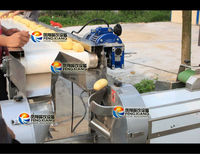 Automatic Turmeric Washing Peeling Cutting Blanching Cooling Drying Production Line, click to see more pictures...Nice