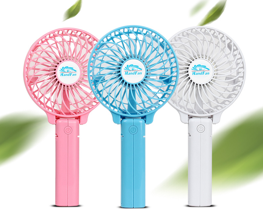 2017 new branded hf 308 mini electric held folding fans for