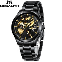 MEGALITH Watches Men Sport Waterproof Automatic Mechanical Watch Stainless Strap Luminous Hands Watch For Men Relogio Masculino