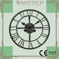 Indoor Outdoor Home Decorative Metal Wall Clock