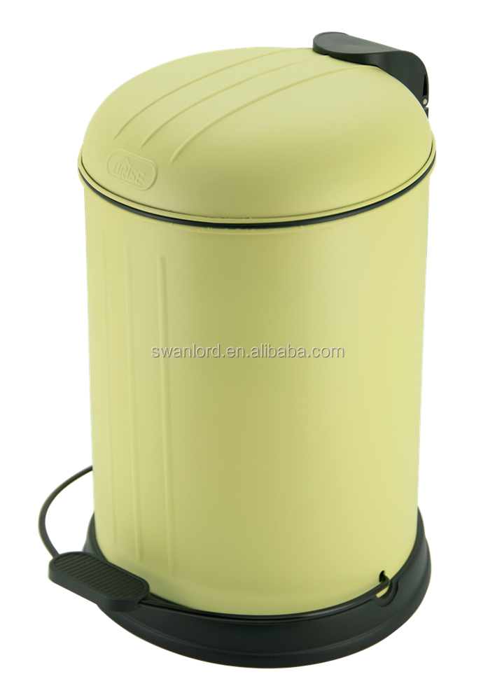 New 12 Litre Retro Bin Waste Powder Coated CreamRecycle Kitchen Dust Pin