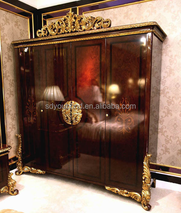0063 European Design High Gloss Luxury Royal Bedroom Furniture Set ...