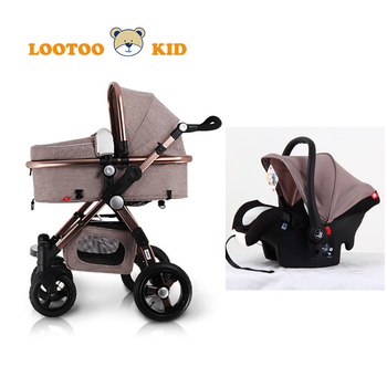 Newborn Gift High Landscape Best Quality Baby Car Seat Cradle 3 In 1 Stroller For Babies
