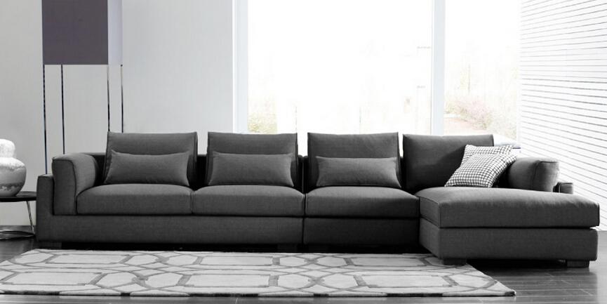 modern soft l shape italian fabric sofa headrest fashion. Black Bedroom Furniture Sets. Home Design Ideas