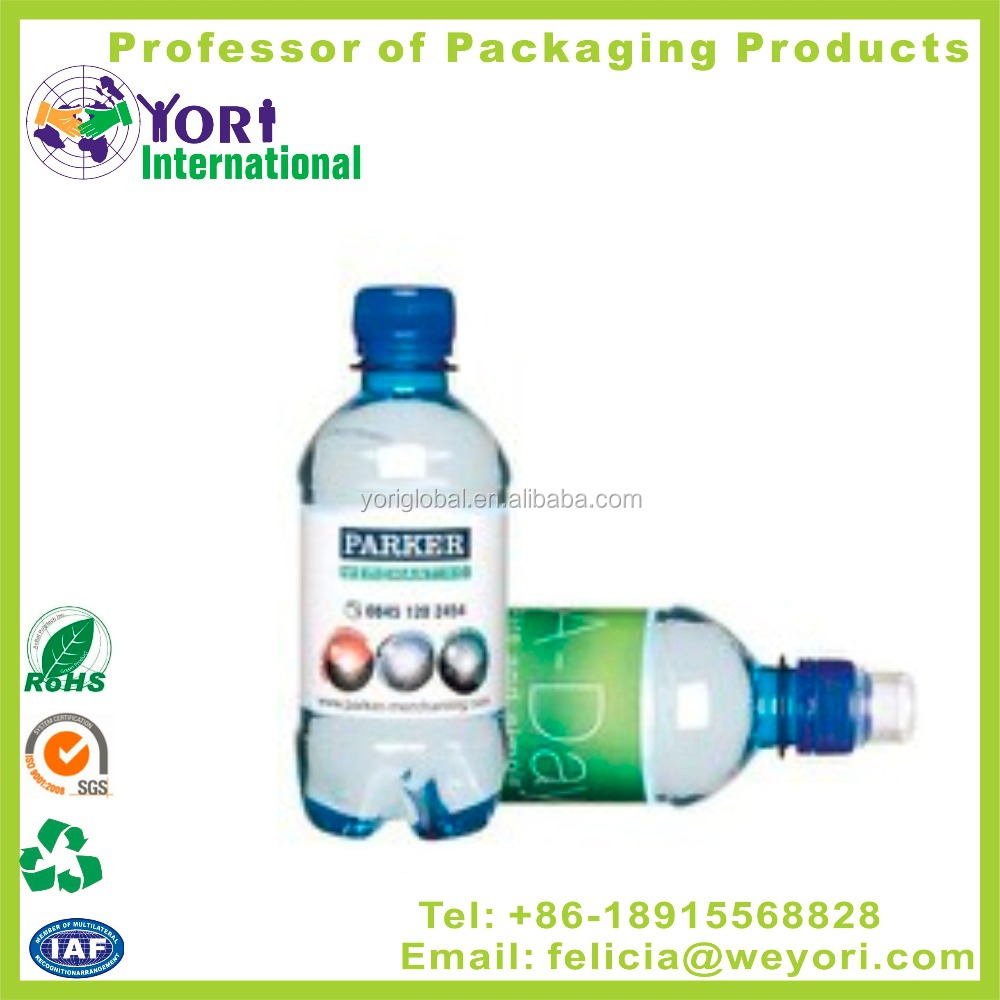 Yori water bottle pvc heat shrink label