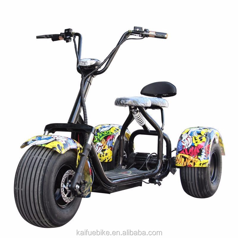 Big tyre electric three 3 wheel mobility scooter car two for Big wheel motor scooter
