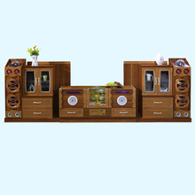 Smart intelligent touch display wooden lcd universal tv cabinet