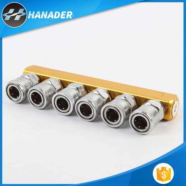 hot high quality Hainaide Japan Type two to six touch air hose quick couplers