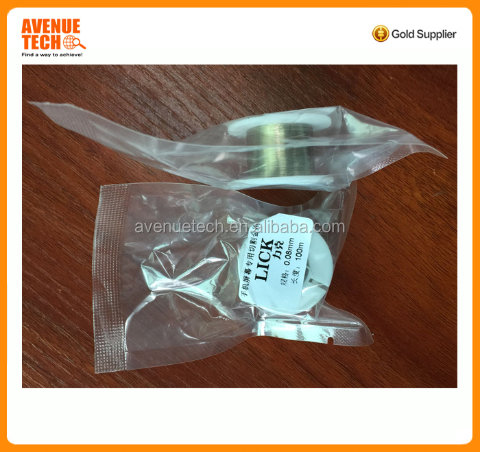 hot sale Economical and practical molybdenum cutting wire with paypal accepted for seperating broken touch screen of