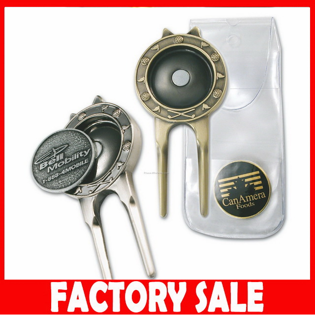 UK661 Hot selling golf divot tool ball marker hat clip luggage tag with low price