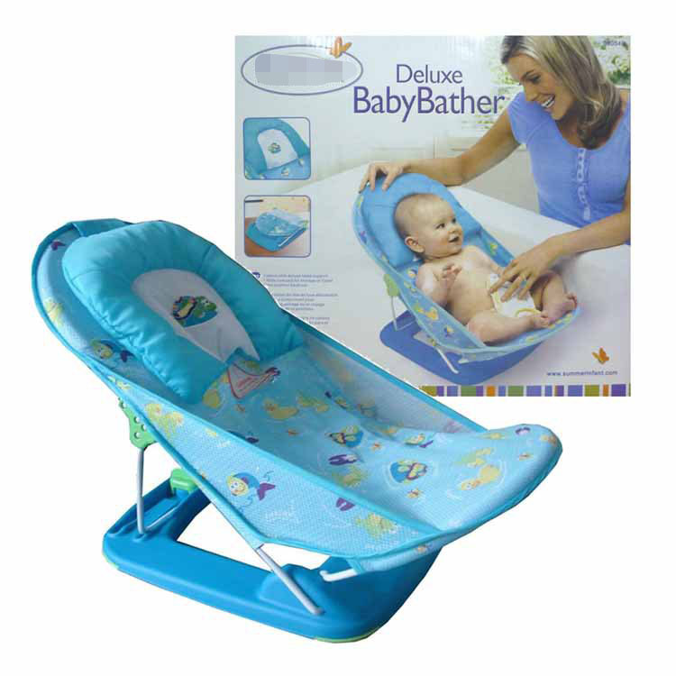 Baby bath chair baby bath chair with pillow can fold 2 gear adjust bath bed