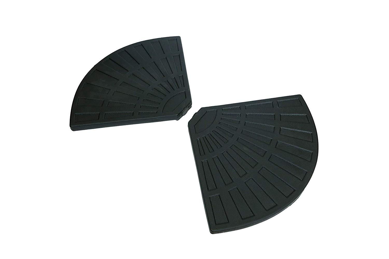 C-Hopetree Parasol Base Weights for Banana Hanging Cantilever Umbrella Sand Water Filled Black Set of 4