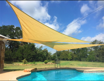 Hdpe Triangle Swimming Pool Shade Sail Carport - Buy Triangle Shade ...