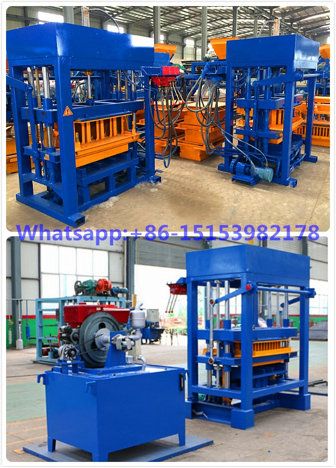 Qt4 30 Diesel Engine Cement Concrete Block Maker Machine