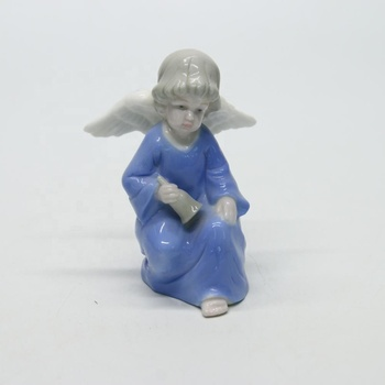 Ceramic fairy figurines small porcelain tale angle